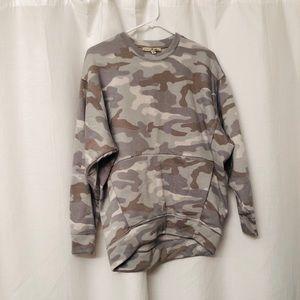 Super soft gray camo Express One Eleven sweatshirt